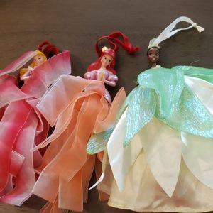 Set of 3 Disney Princess Ornaments